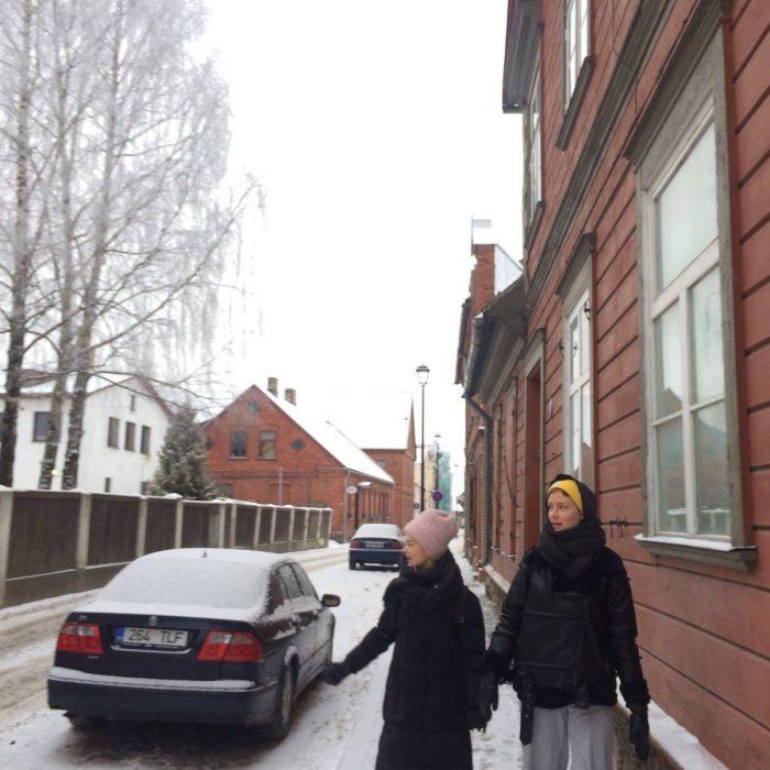 Viljandin pakkasessa Anna Böhm ja Heli Hyttinen