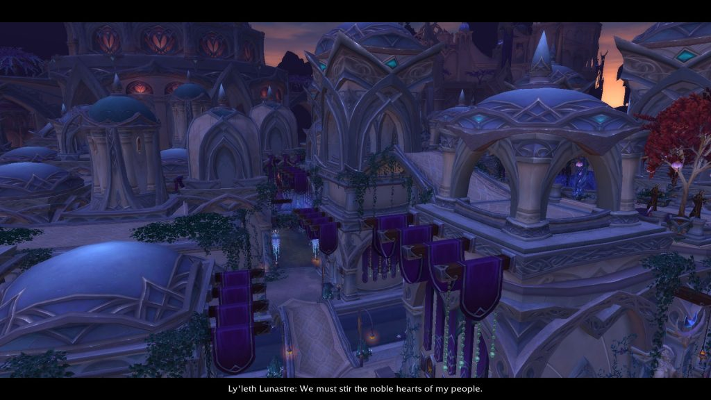 The Nightfallen city of Suramar is quite pretty