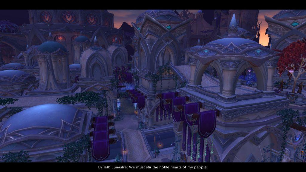 The Nightfallen city of Suramar is quite pretty