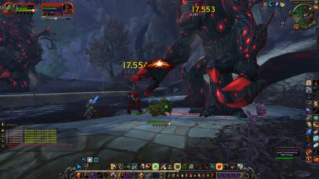 In Val'sharah, you fight satyrs and corrupted treants
