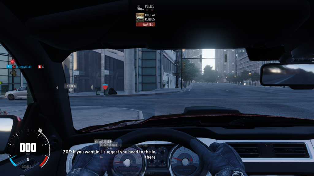 The Crew (Ubisoft, 2014), with UI and without.