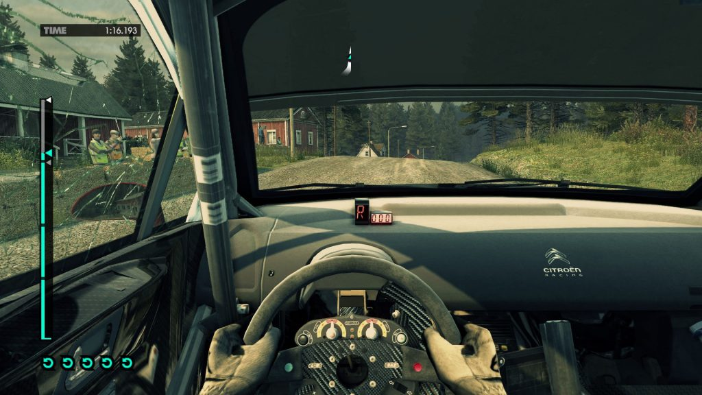 DiRT 3 (Codemasters, 2011), with UI and without.