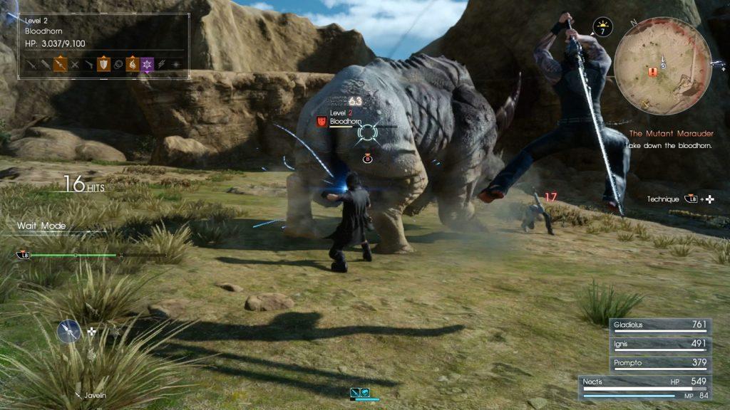 FFXV gameplay