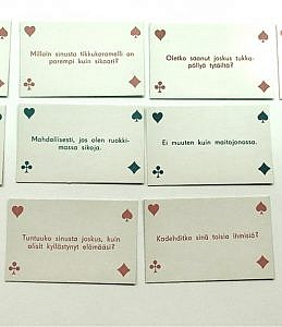 Six game cards.