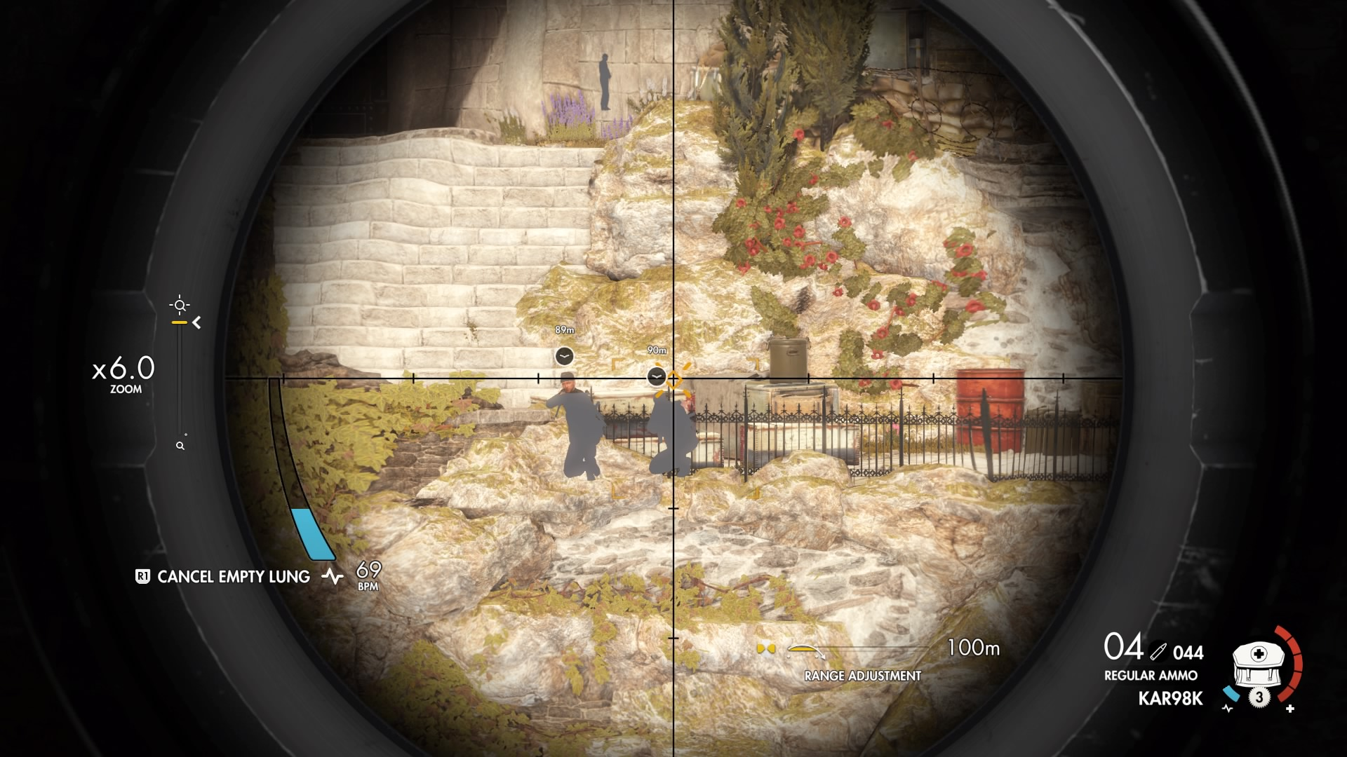 The player spends a lot of time scoping and tagging enemies during missions.