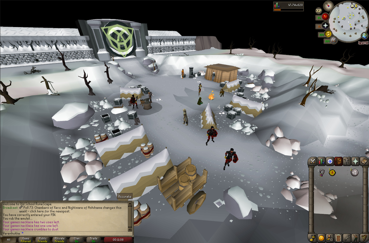 A camp in front of Wintertodt