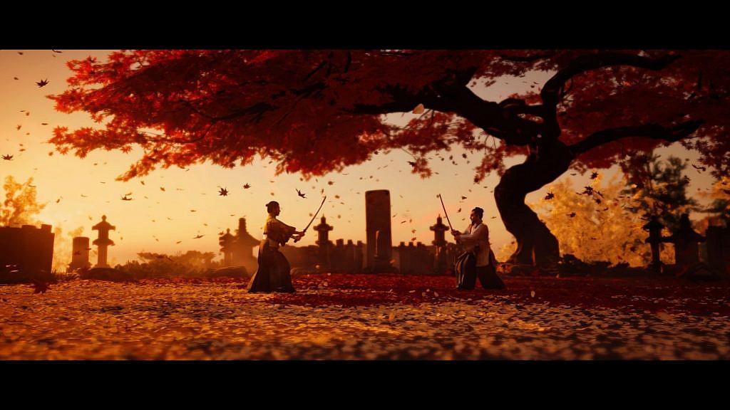 Battle scene under the Sakura tree
