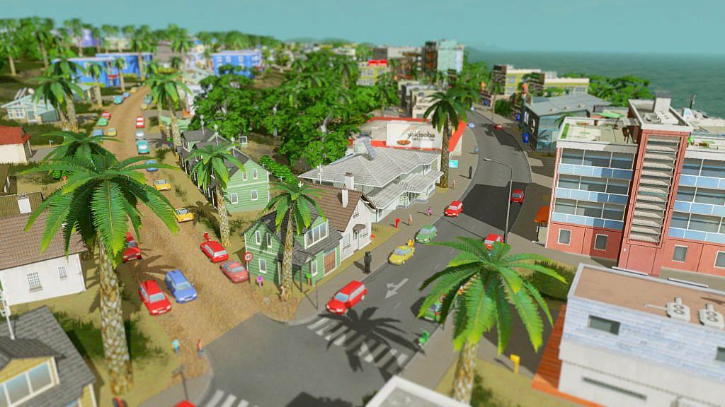 scene overlooking a low-density residential area near water