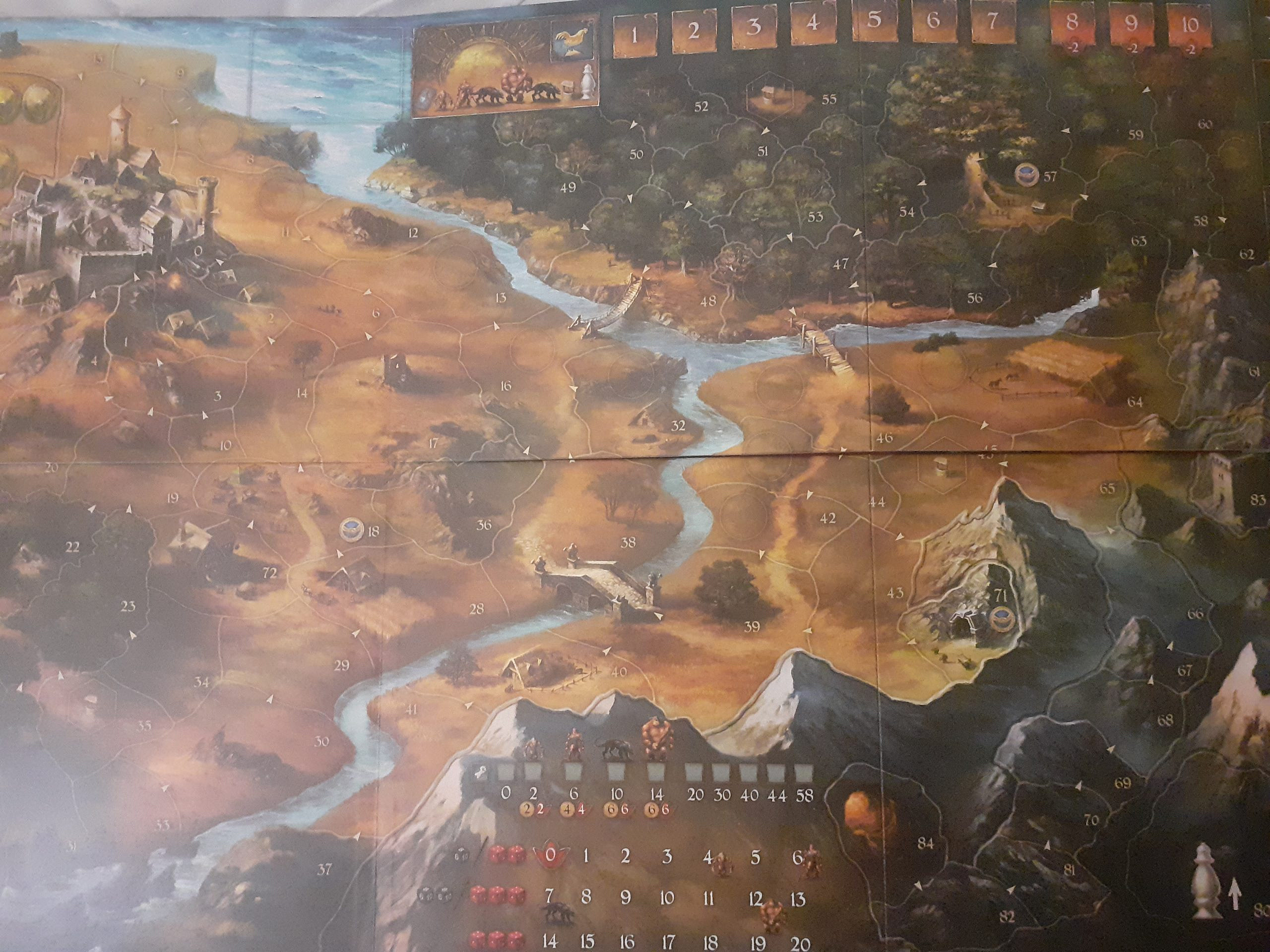 A map in a boardgame called Legends of Andor