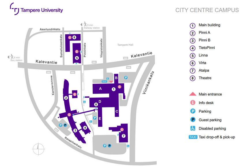 City centre campus map