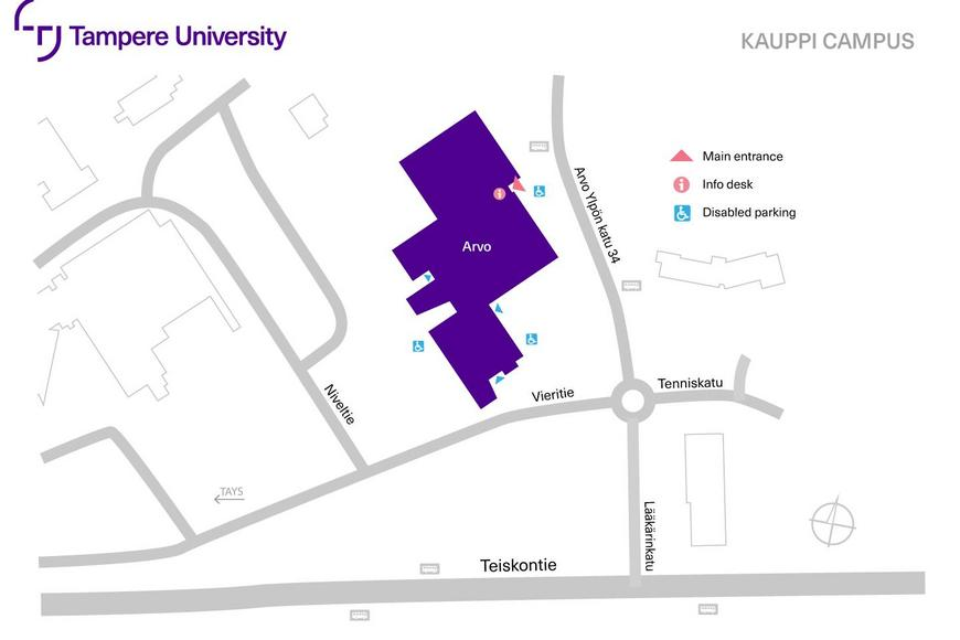 Kauppi campus map