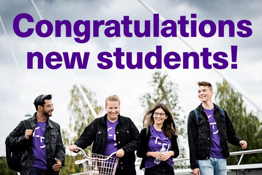 Congratulations new students!