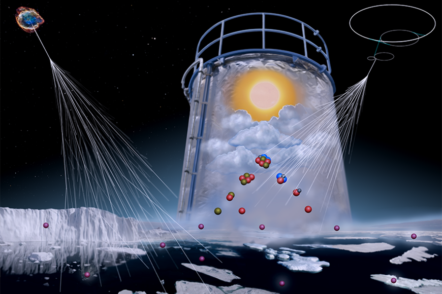 Simulation of the marine atmosphere in the CLOUD chamber (CERN).
