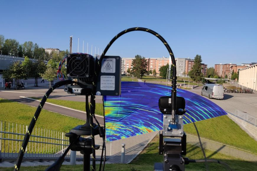 Using radio for radar in the front yard of Hervanta campus
