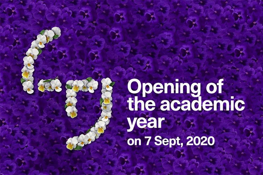 Tuni logo and text Opening of the academic year on 7th September, 2020
