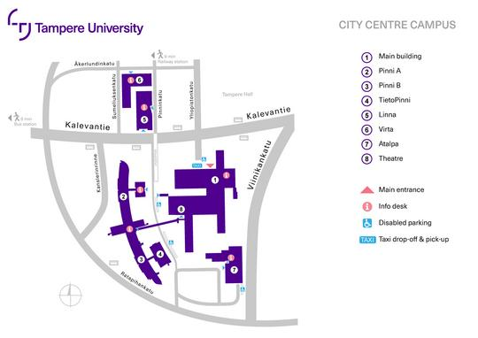 City Centre Campus Tampere Universities