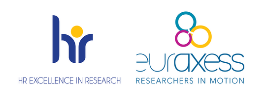 HR Excellence in Research and Euraxess logos