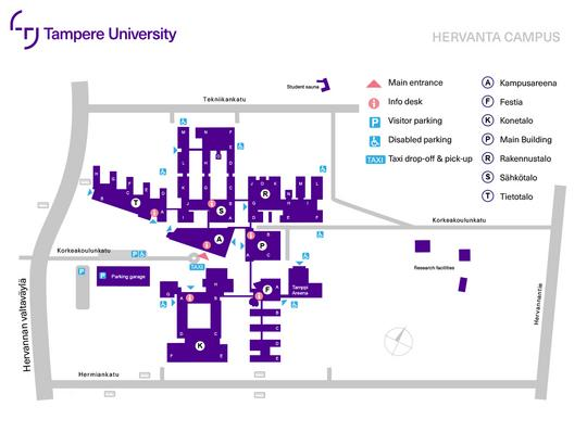 Hervanta campus map