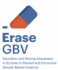 Picture of an eraser and the text Erase GBV Education and Raising Awareness in Schools to Prevent and Encounter Gender-Based Violence
